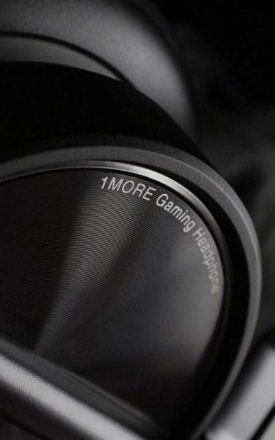 black headphones detail