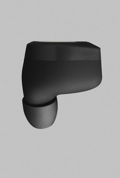 picture of one black beoplay earphone