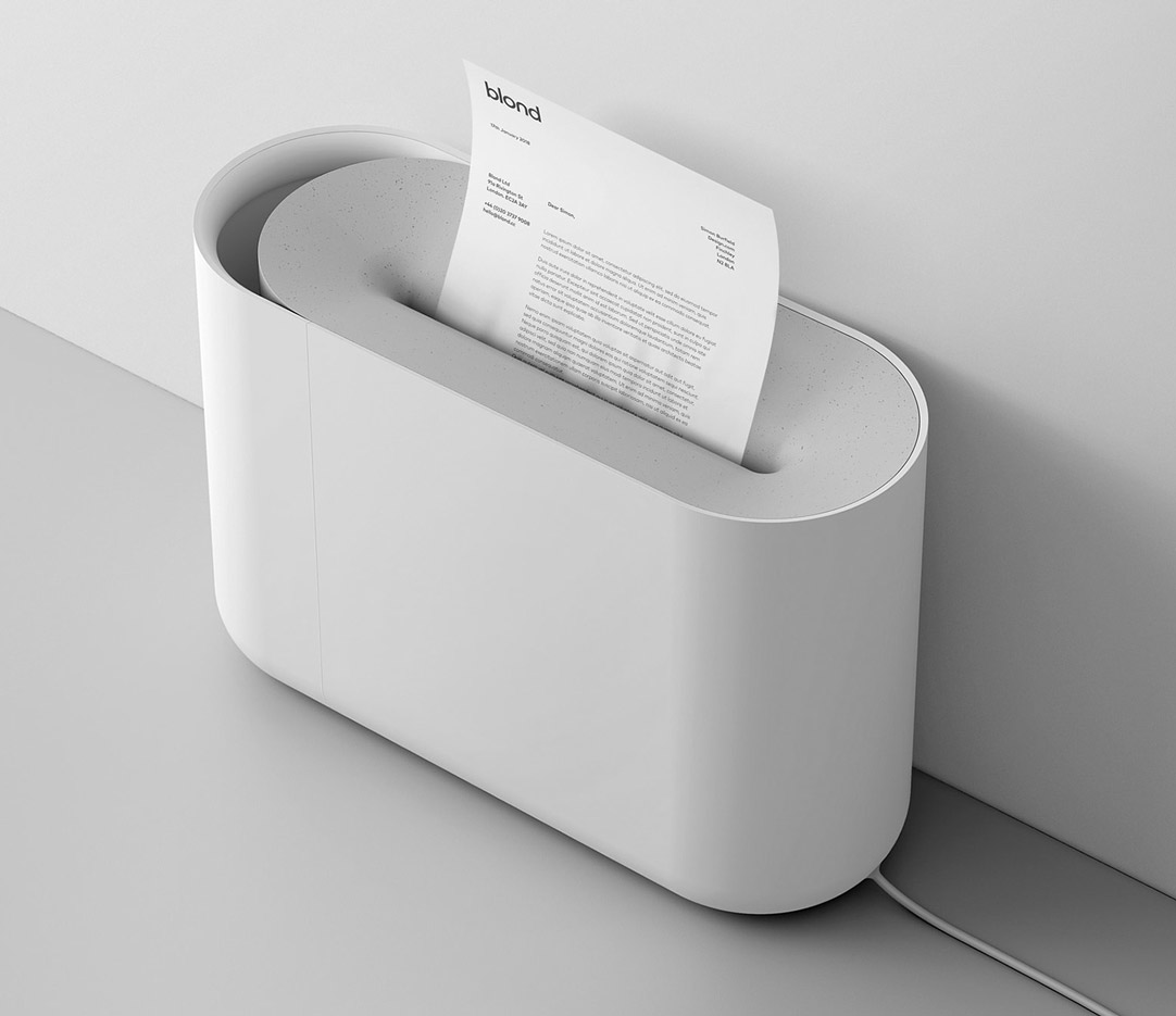 Blond aperture paper shredder