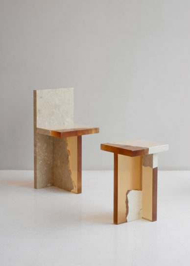 FICT Fragment stool with chair