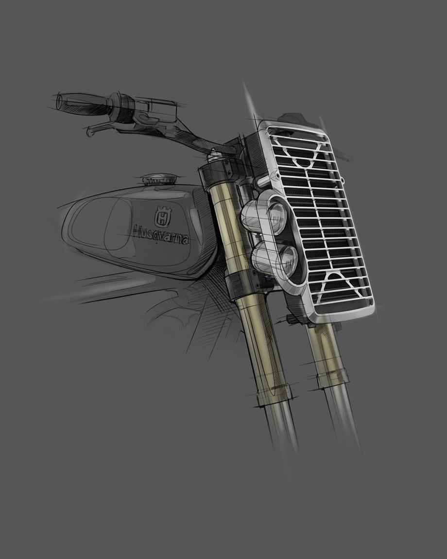 Husqvarna Custom Radiator by David Mucci