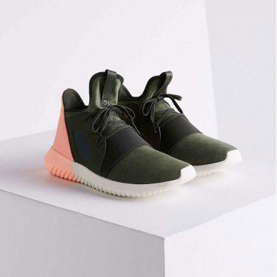 adidas green multi colorblock tubular defiant sneaker green product