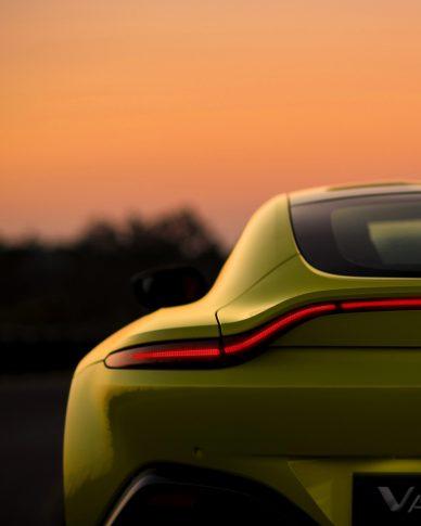 photo of rear light aston martin vantage lime essence 2018