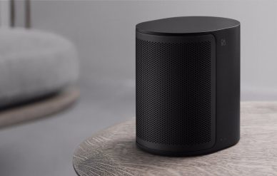 picture of black beoplay on table