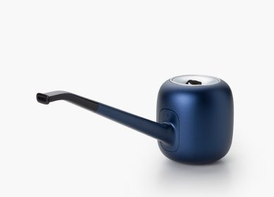 blue designer pipe
