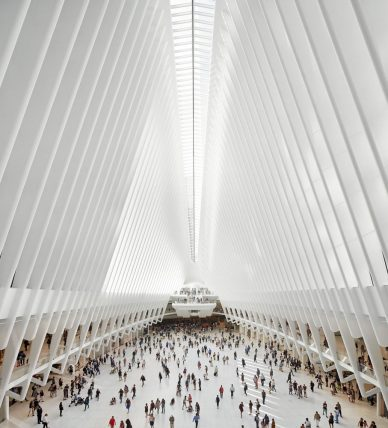 calatravas wtc transportation hub photographed by hufton