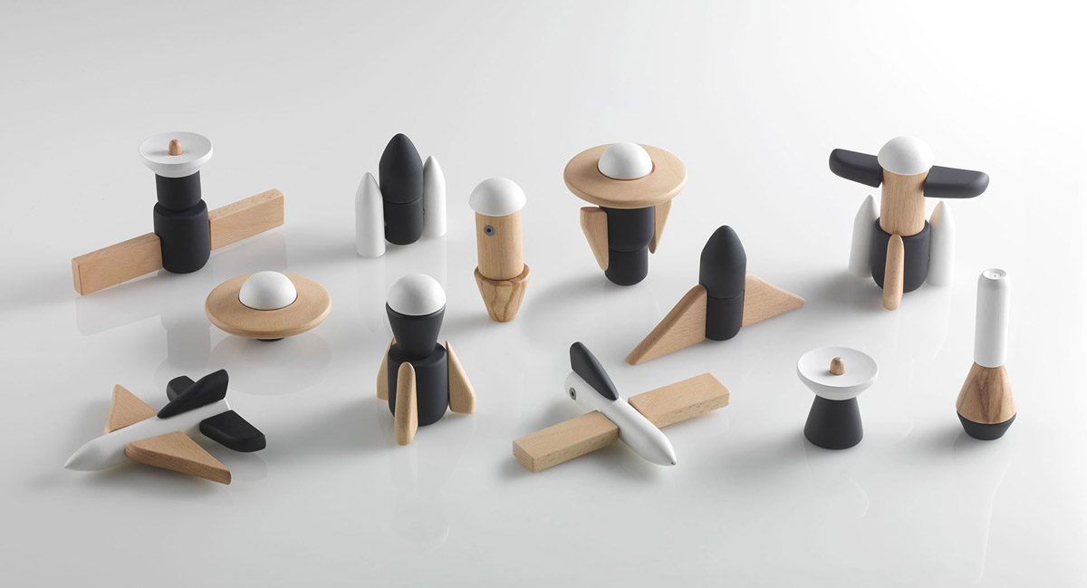 cosmos wood modular space toys huzi design