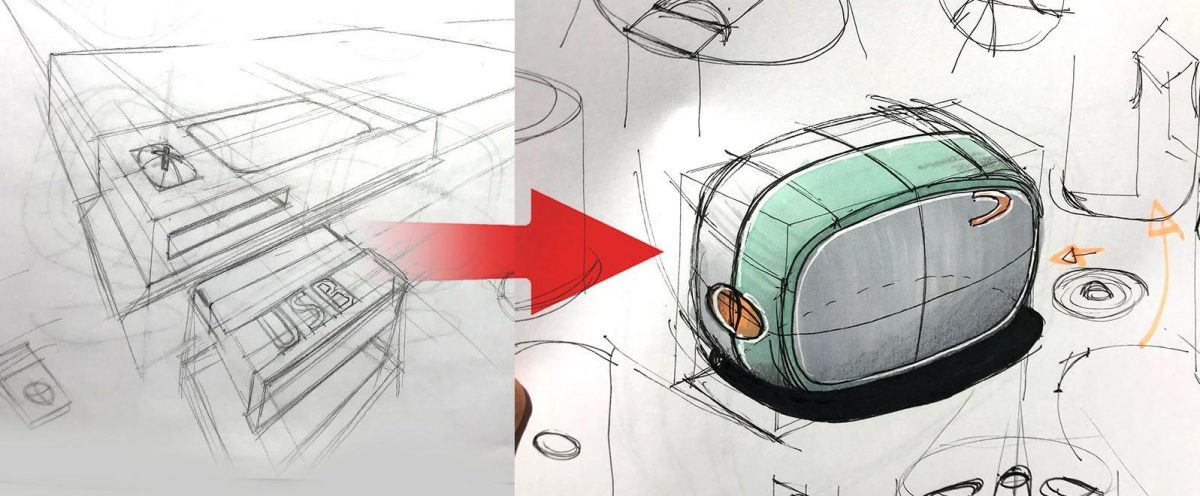 Online course - Develop a creative process and master your Industrial design sketching skills