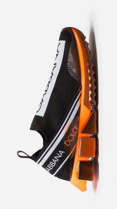 dolce gabbana sorrento melt sneakers orange