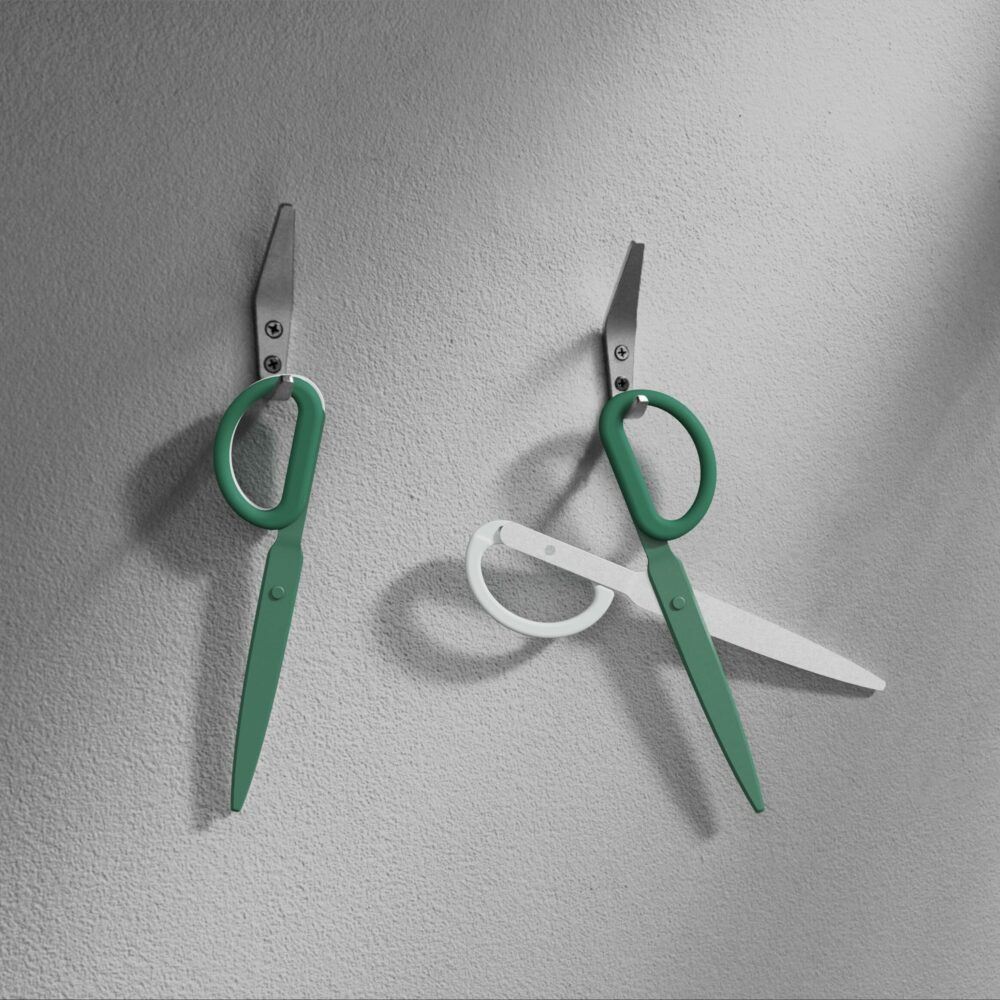 Gold - Office-Accessories - Double Scissors_01