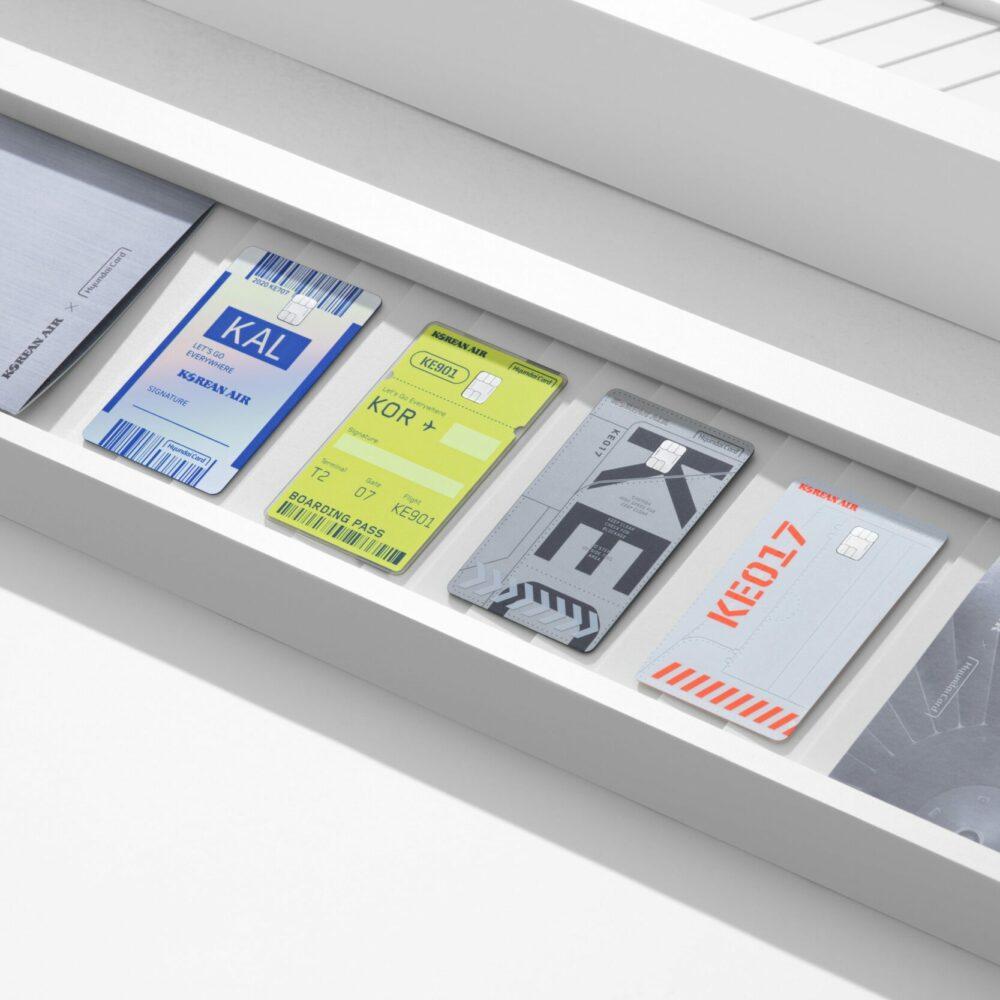 Silver - Branding - Korean Air X Hyundai Card credit card design_01