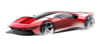 ferrari p80 c design sketches
