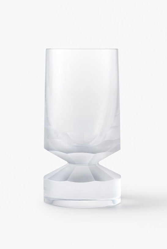 lasvit glass nendo beaver glassware collection