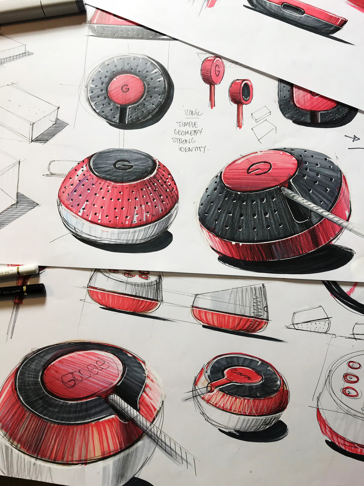 leManoosh Industrial design sketches