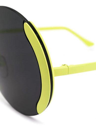 marni eyewear round frame sunglasses