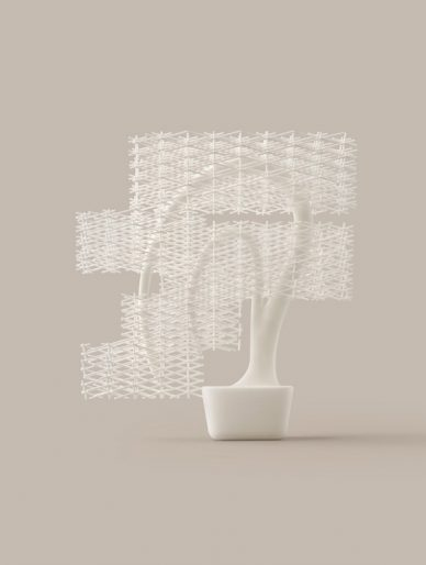 nendo design grid bonsai gucki