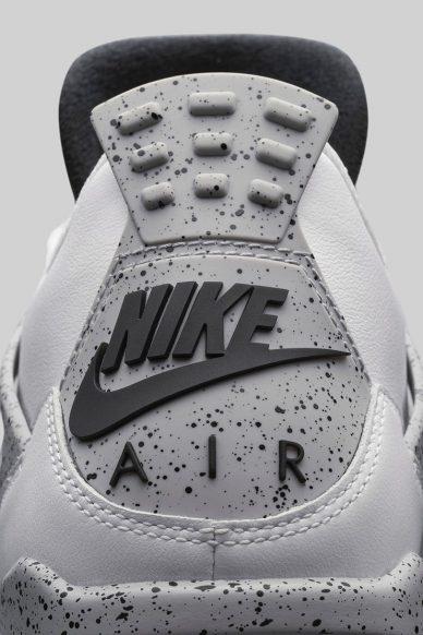 nike air jordan 4 retro white cement grey