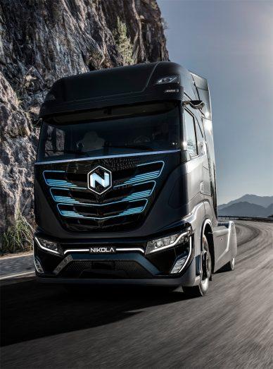 nikola electric truck hydrogen tre concept