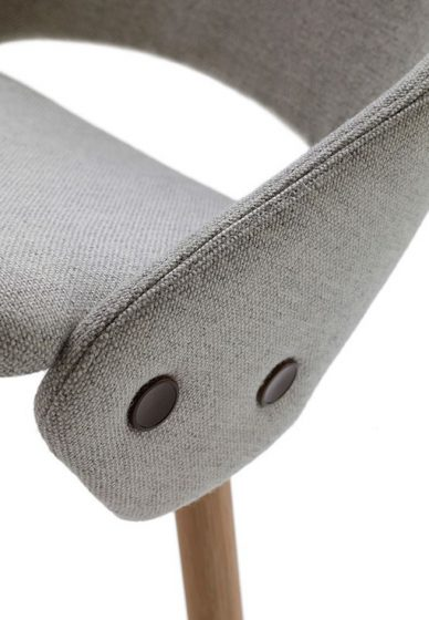offecct gray tailor chair side