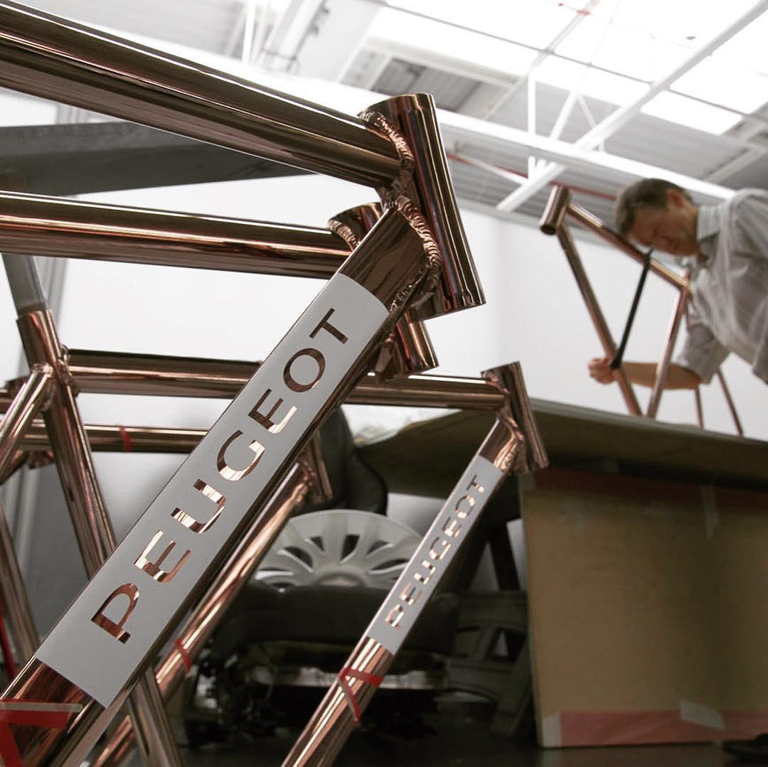 peugeot copper bicycle dl121