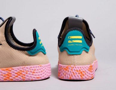 beige pink pharrell wiliams adidas tennis