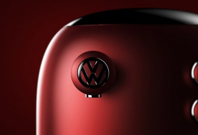 volkswagen Coffee machine red barista beetle
